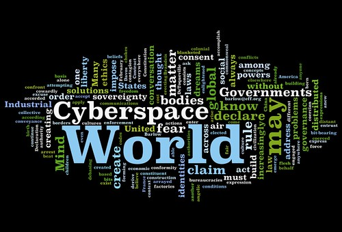 Declaration of Independence of Cyberspace Wordle | by HASTAC-DML
