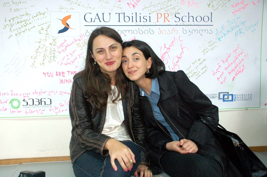 PR School - თეონა დოლენჯაშვილი და მაია ძირკველიშვილი
