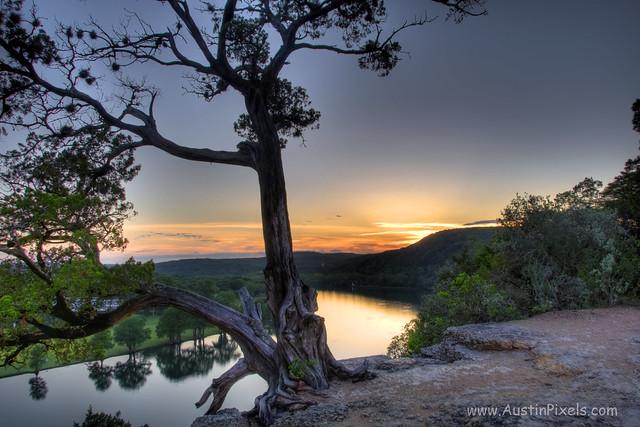 Sunset over Lake Austin