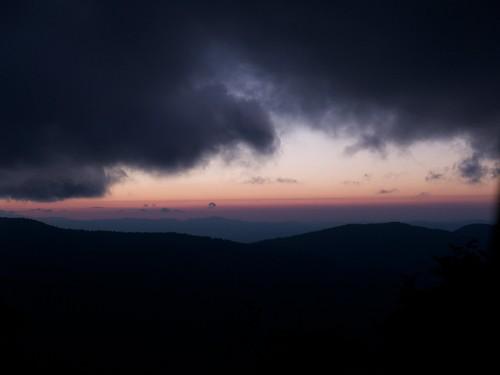 statepark sunset clouds nc mountmitchellstatepark