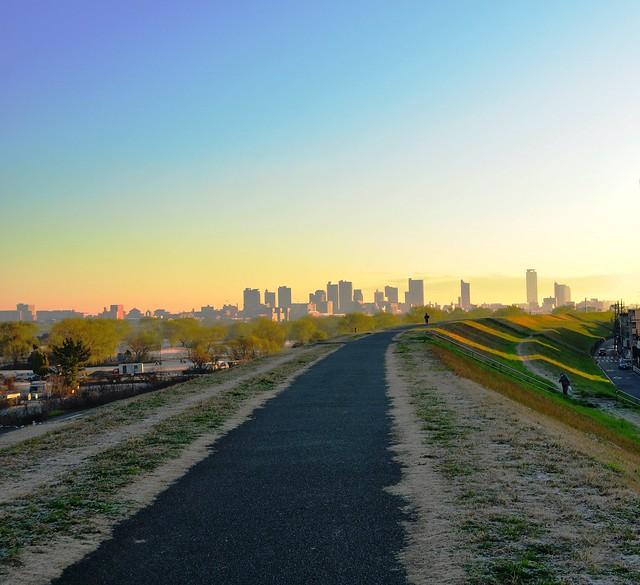Sunrise over Kawaguchi