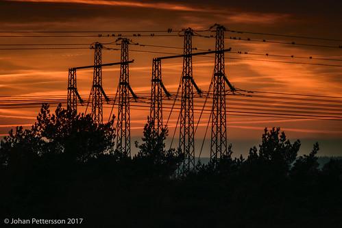 trollhättan västragötalandslän sverige se karlstorp ned16 neutraldensity sunset