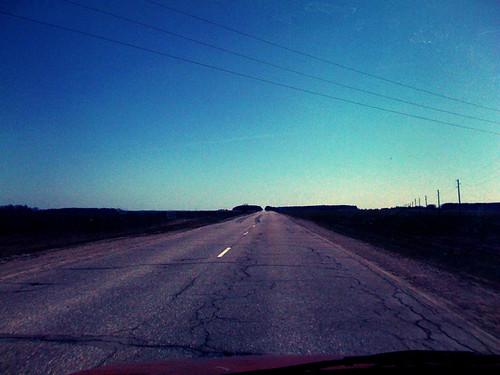 road sunrise empty iphone