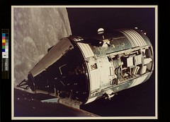 Apollo 17 Command/Service modules photographed from lunar module in orbit | by George Eastman Museum