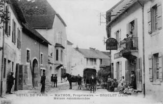 La rue des fossés à Orgelet