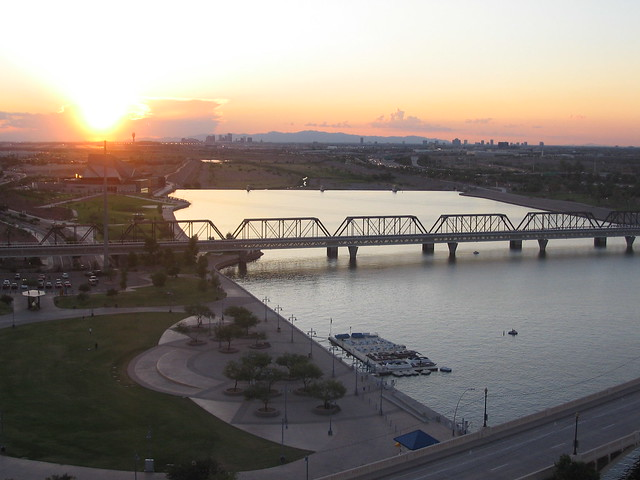 Tempe Beach Park and Light Rail Bridge