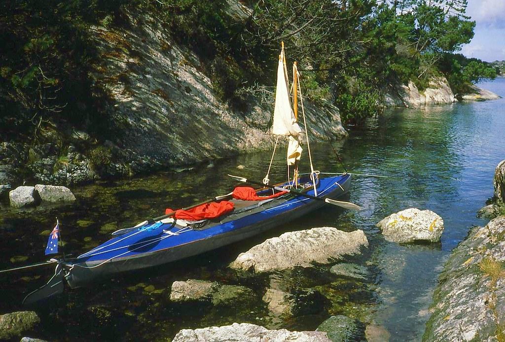Klepper at Hisoy Island | Our 1932 Blauwal Klepper kayak at