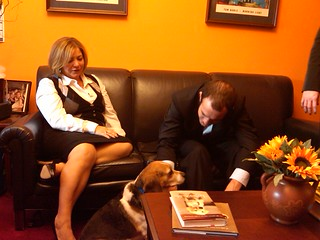 Joe Cada with Rep. Linda Sanchez from California | by pokerplayersalliance