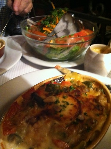 Veggie lasagna at Chez Paul in Paris | by Ted Drake
