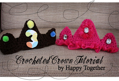 Crocheted Crown Tutorial | by ohsohappytogether