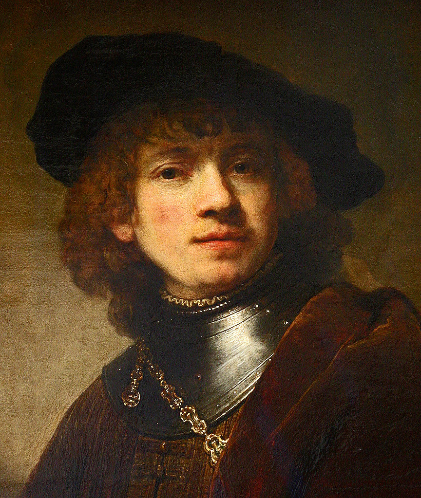 Rembrandt, Self-portrait as a young Man