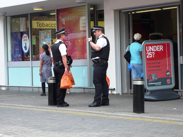 Police at East Ham Market