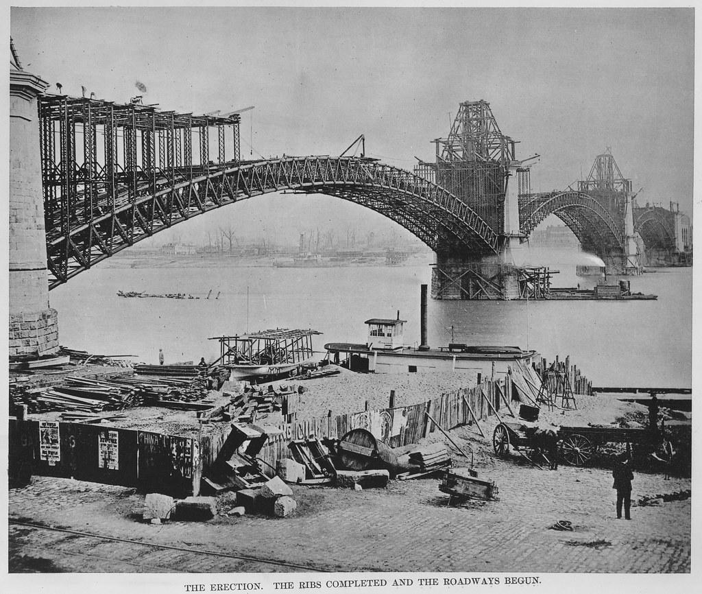 Eads Bridge Construction