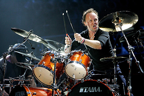 Lars Ulrich of Metallica performs at the 2008 Bonnaroo Music and | by ArtStudio Magazine