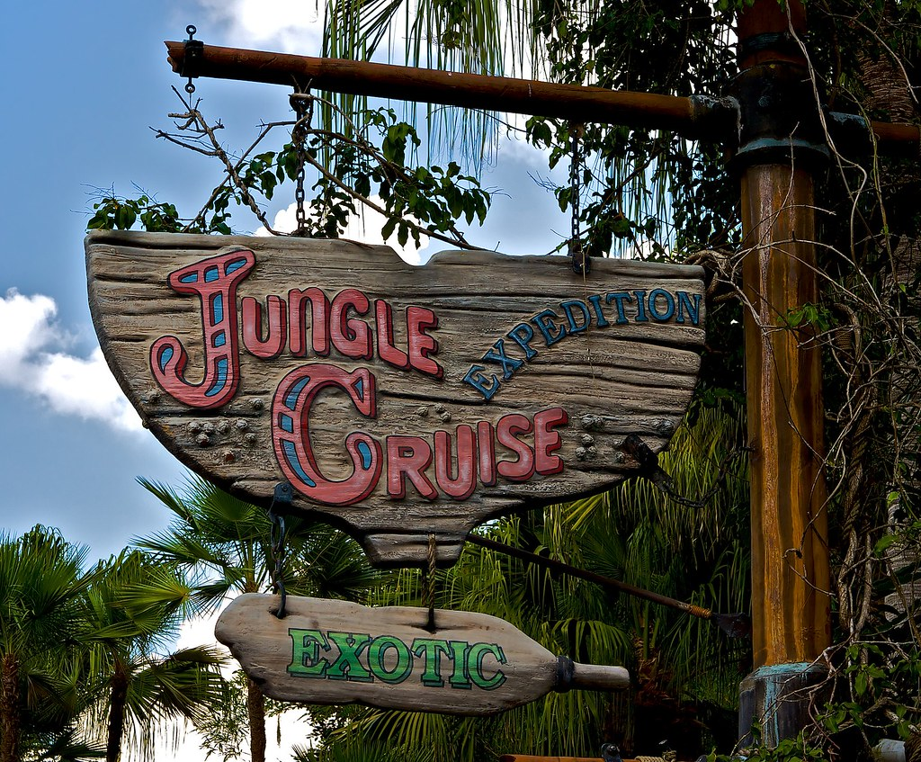 Jungle Cruise Sign Ok Before We Go Much Further Everyo Flickr