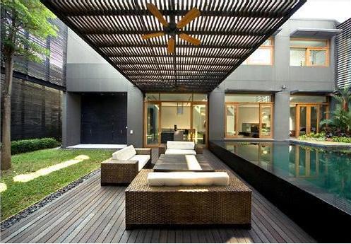 modern-courtyard-design-minimalist-house | highfithome ...