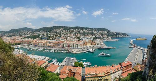 panorama france skyline port landscape boats harbor nice cityscape rooftops minolta harbour a99