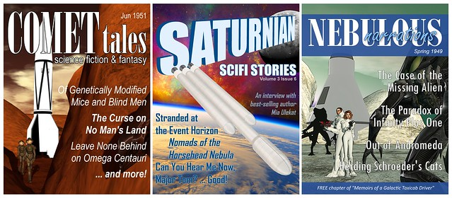 ISM in SL12B - Fictional science fiction magazine covers