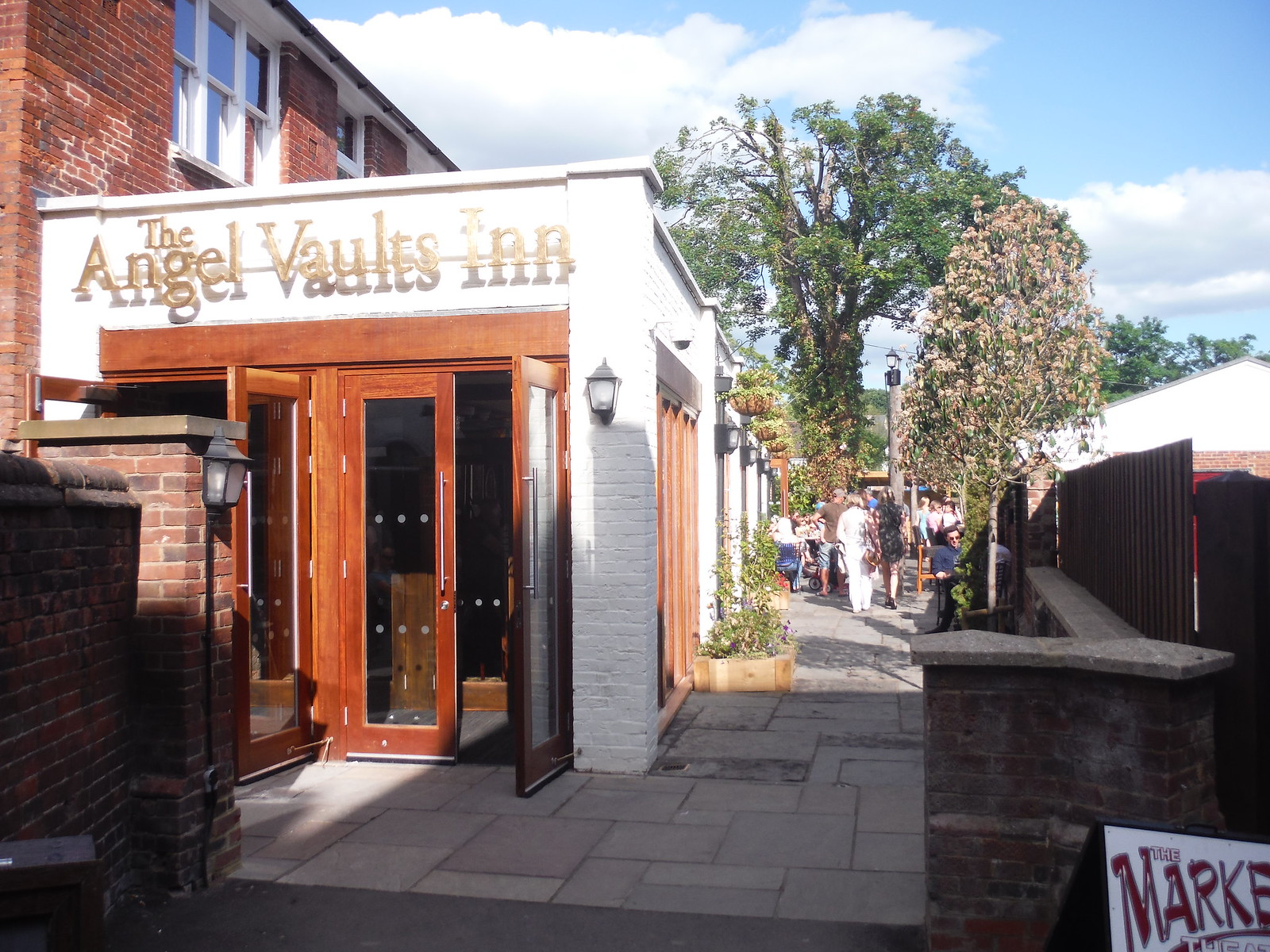 Angel Vault Inn in Sun Street SWC Walk 234 Hitchin Circular
