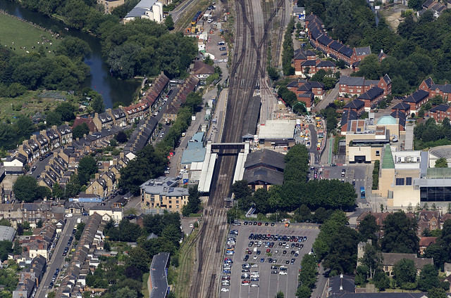 Oxford Railway Station aerial view