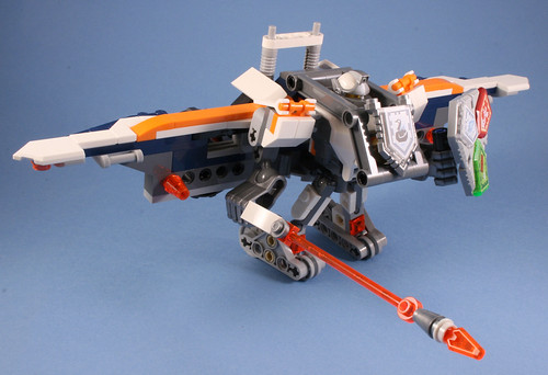 70348 Nexo Lance Twin Jouster - 70366 with 70348 wings   by koffiemoc
