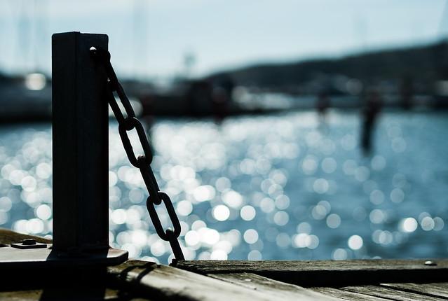 At the pier (Bokeh Olympus 45mm 1.8)