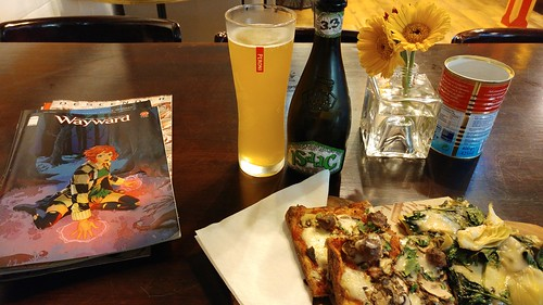 Weekend Triptych: beer, pizza, comics