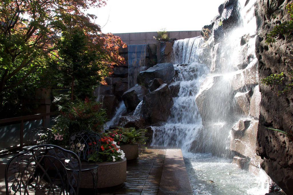 Waterfall Gardens A Small Urban Park Created By The Ups Co Flickr