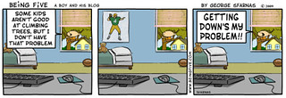 Thought this Being Five cartoon was appropriate for the geocaching blog | by absoblogginlutely