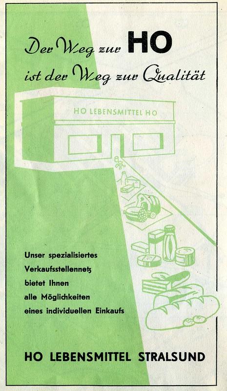 HO Lebensmittel Stralsund - 1957 map advertisement.