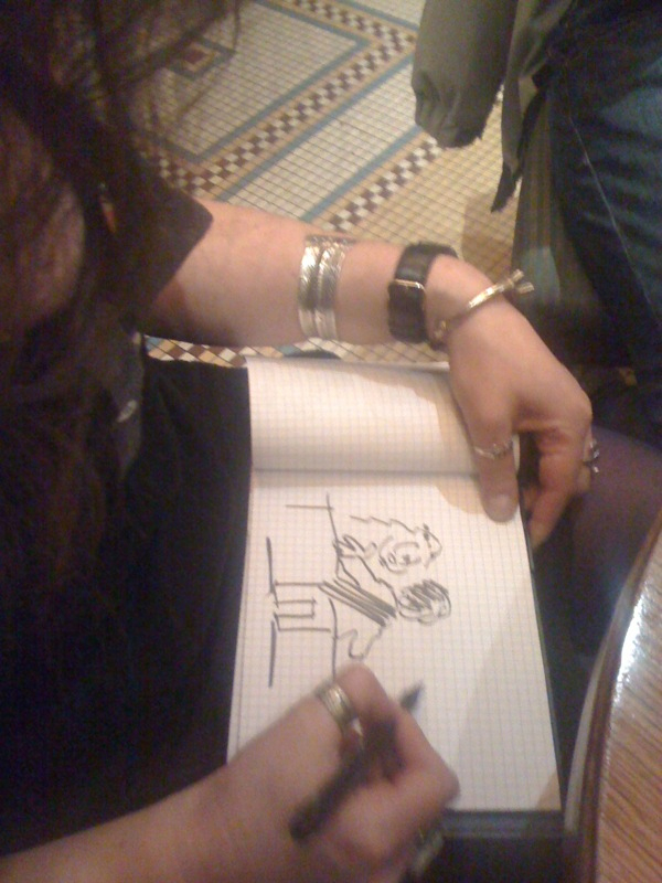Catherine Créhange dessine devant moi !