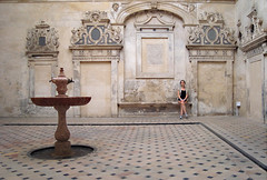 Seville cathedral courtyard | by obscure allusion