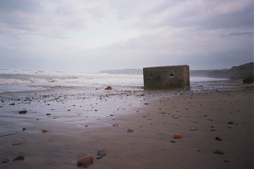 Filey beach - pill box by Jane Dallaway