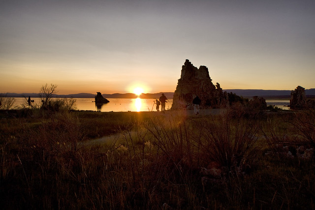 Photographers at sunrise