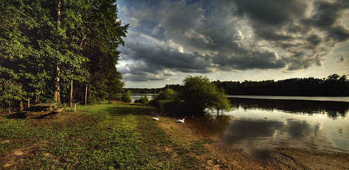 sunset usa reflection clouds boat tramonto nuvole ducks northcarolina cary papere riflesso bondlake massimostrazzeri ziomamo