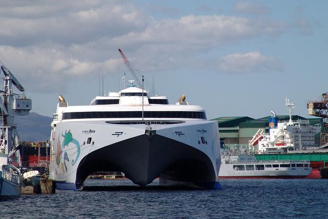 HAKODATE bay - High speed ferry.