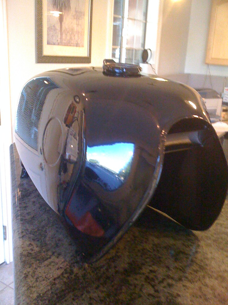 Powdercoated toaster tank