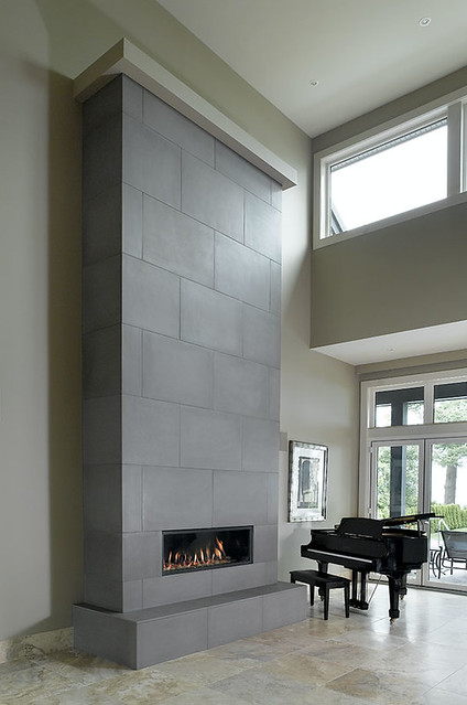 Solus Tiled Fireplace 24 X 36 Feature Wall In Shiitake