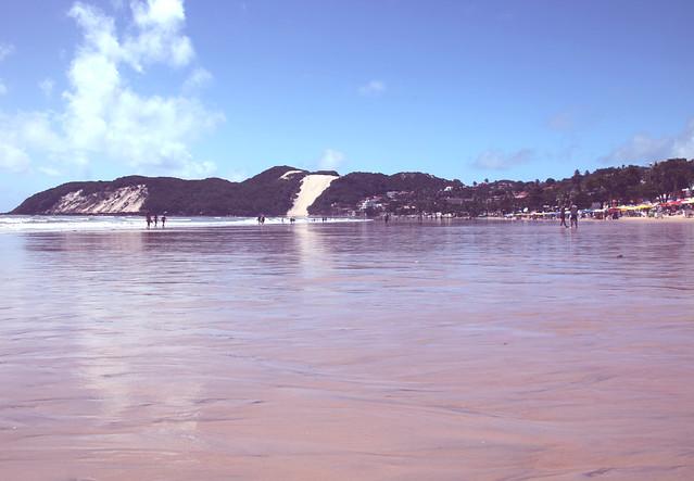Spiaggia Ponta Negra con vista del Morro da Careca