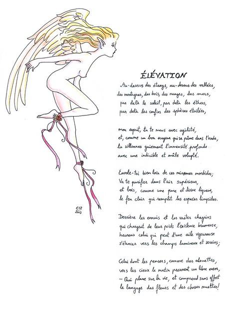 Elevación En Francés Charles Baudelaire Poema De Charle