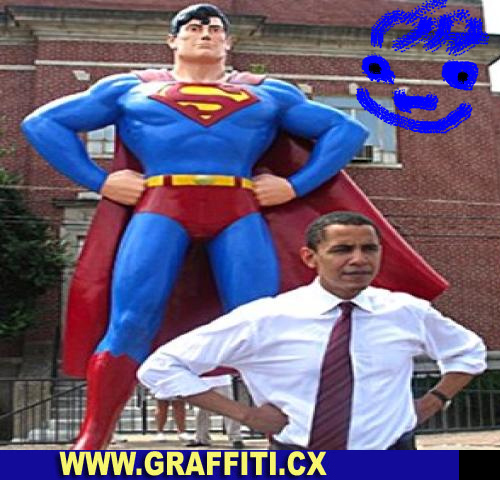 Barack Obama - Superman | Monthly Graffiti Generator/Creator