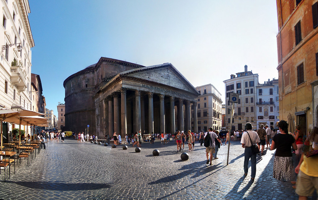 Pantheon three quarters view, 40 Megapixels.
