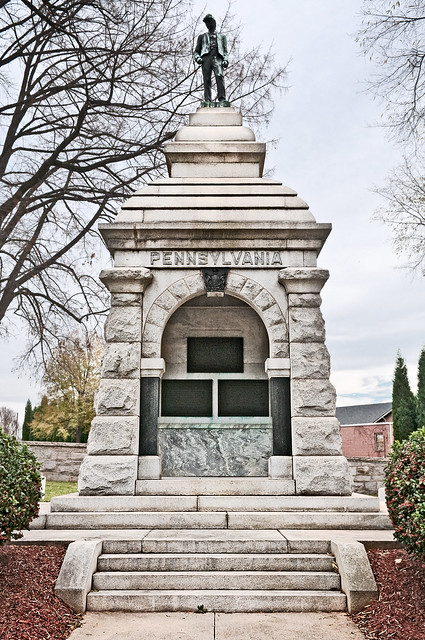 Pennsylvania memorial (1909), Salisbury National Cemetery, Salisbury, North Carolina