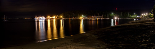 Tadoussac Harbor at Night   by haban hero