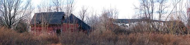 decaying barn panorama