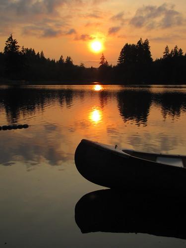 sunset summer clouds bravo canoe estuary wa pugetsound 1bluecanoe