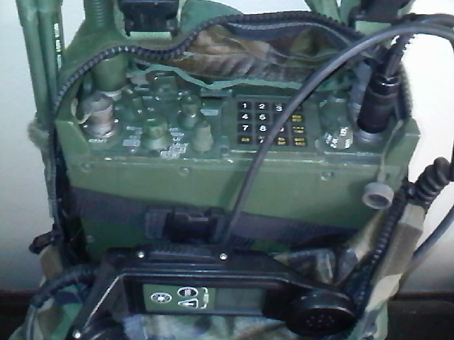 prc-119 and remote control handset | this radio sit inside i