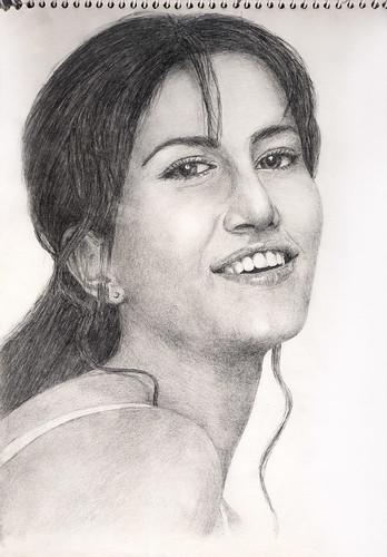 Katrina Kaif - Pencil Sketch | jagroop singh | Flickr