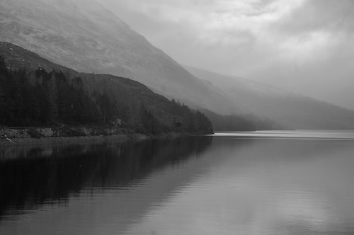 mist missed fog weather lochtreig loch water scotland scenery scenic scottish scots waterscape westhighlands art blackandwhite mono mountain clouds coloursofscotland reflection reflections reflecting reflect gradiant grey day pentaxkr pentax pentaxdal peaceful peace landscape sky