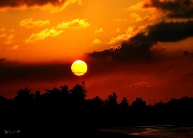 Sun setting along the Atlantic Coast